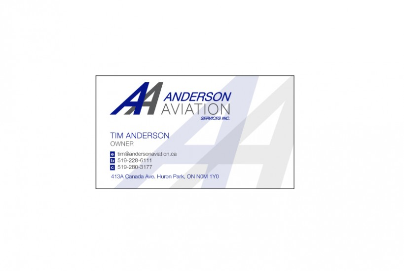Anderson aviation business cards ecoworks web architecture anderson aviation business cards colourmoves